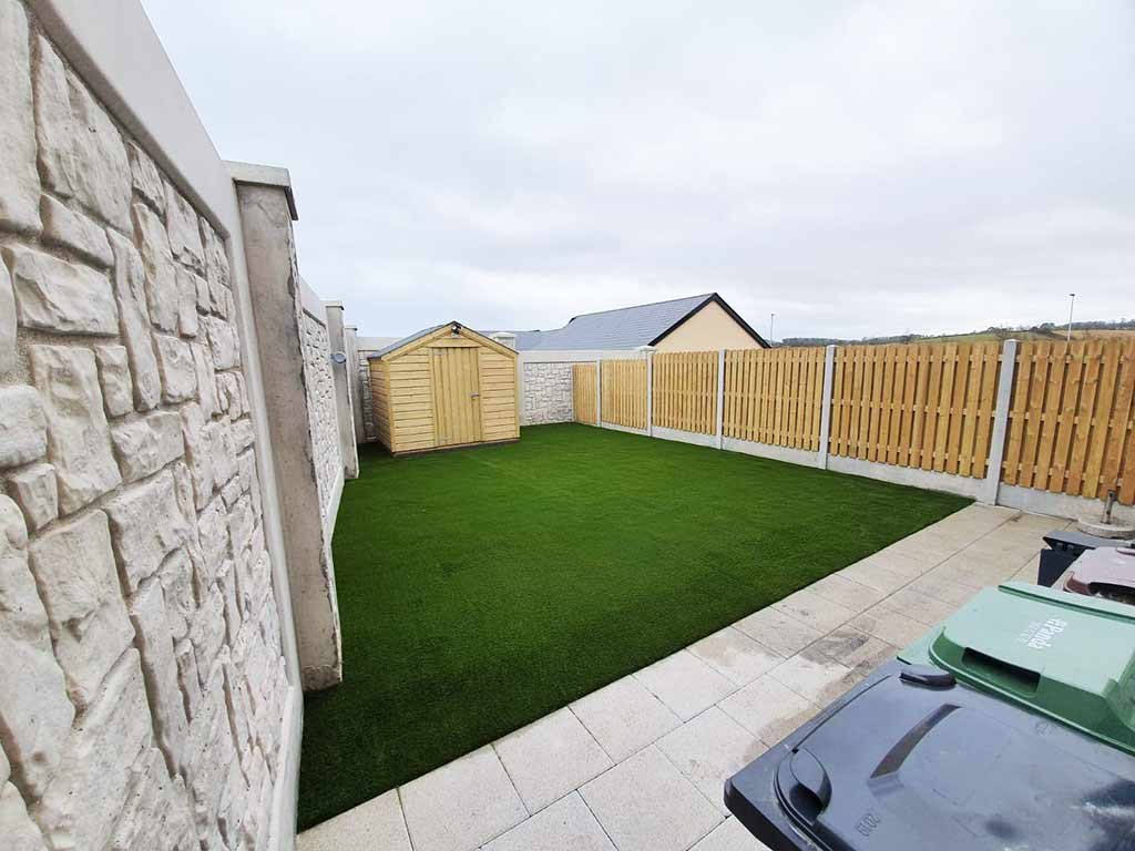 Artificial Grass & Paving Before & After Skerries