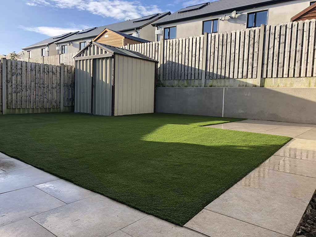 Wicklow Town Before & After Artificial Grass