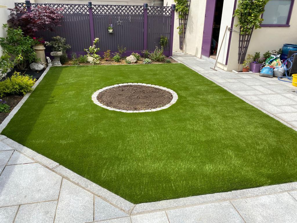 Artificial Grass Cork Back Garden