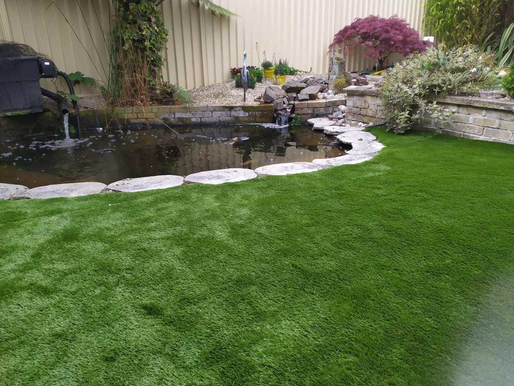 False Artificial Grass Cork back garden
