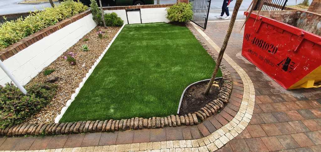 Artificial Grass in Dublin front Garden