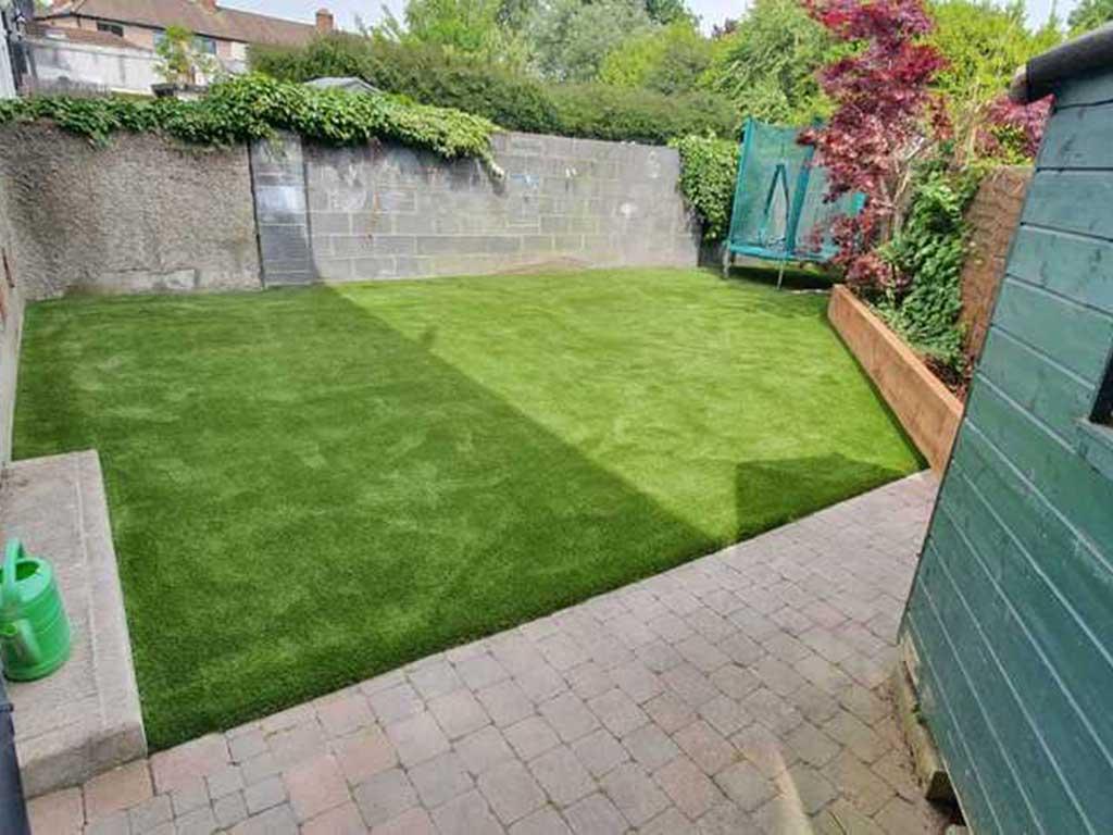 Artificial Grass in Kildare back garden