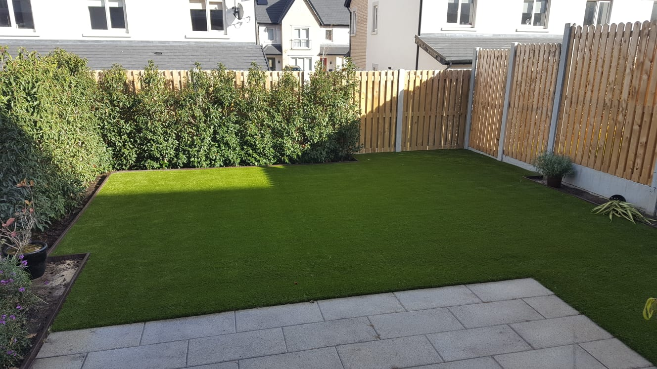 Back Garden with Artificial Grass in Stepaside Dublin