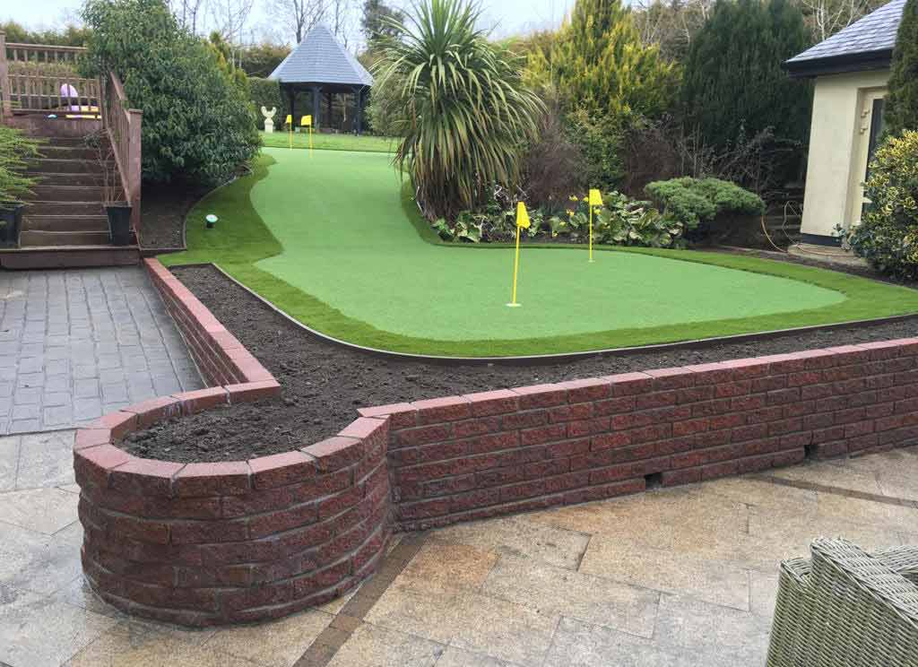Stunning Artificial Grass full size putting green