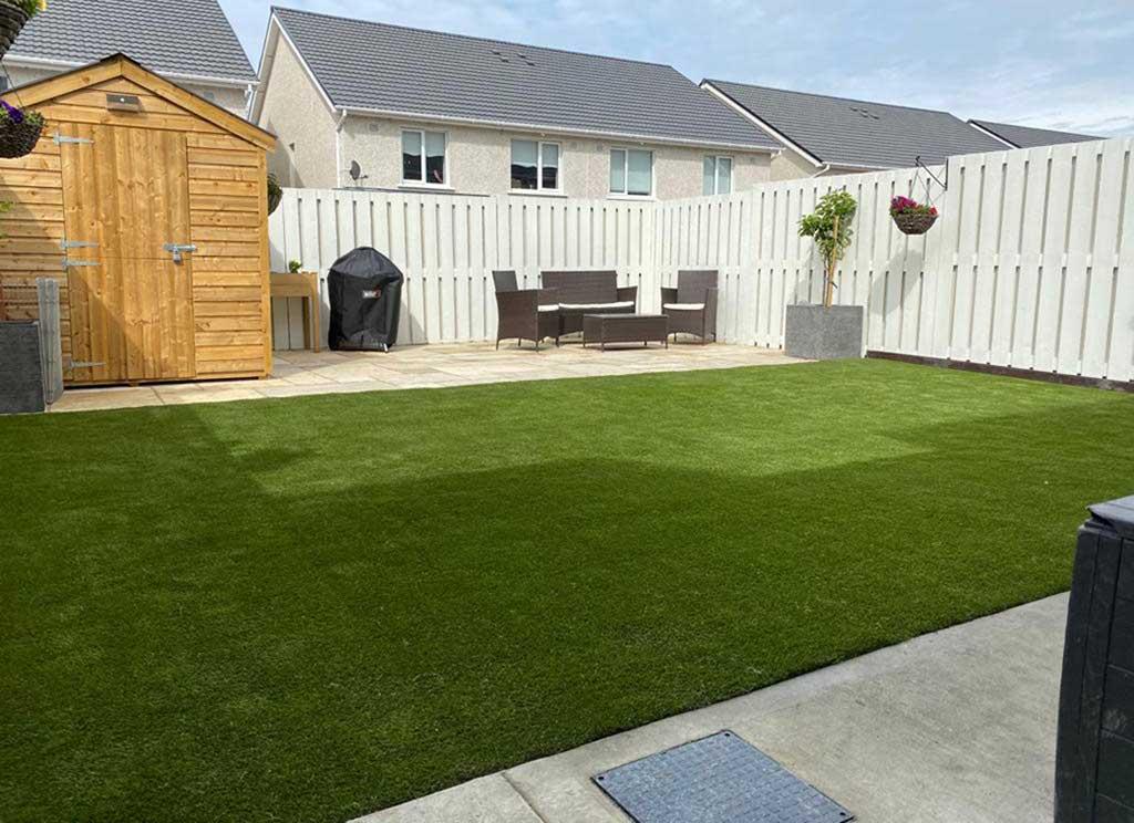 Suburban Dublin Garden False Grass laid