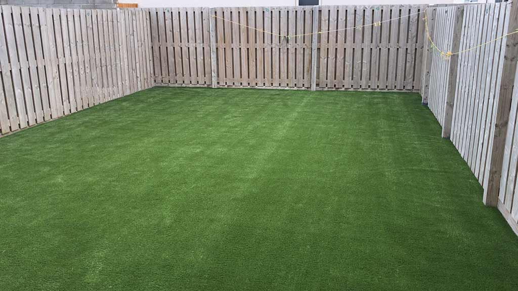 New Artificial Grass back garden in Cork