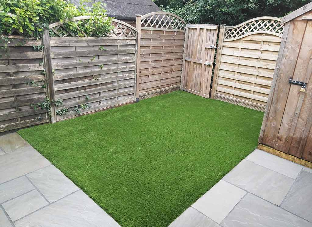 Paving Flags & Artificial Grass areas Wicklow garden