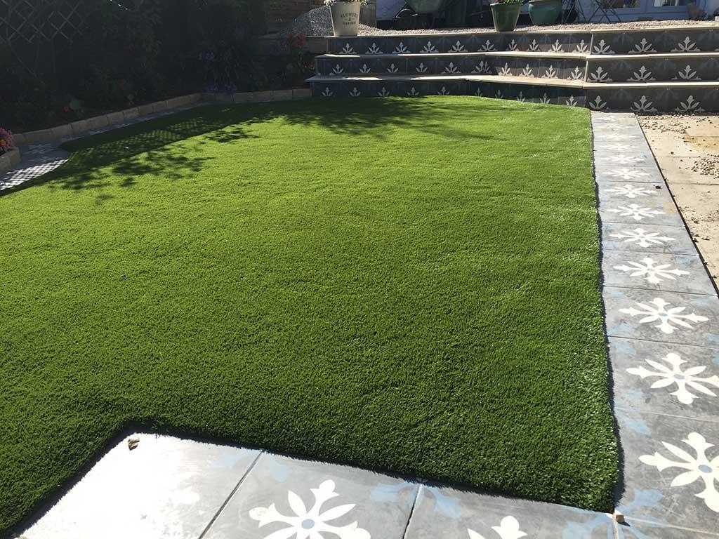 Artificial Grass installed in Dublin Garden