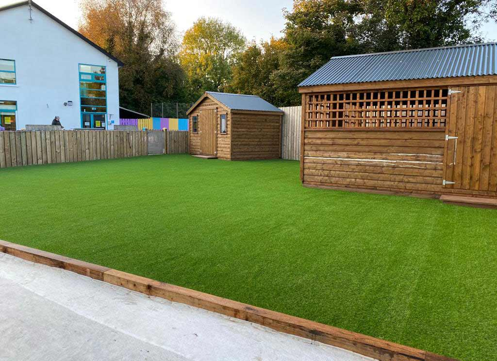 Artificial Grass installed in Crèche, in Co Monaghan