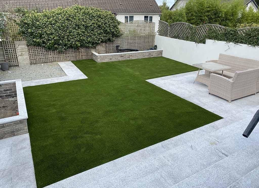New Artificial Grass Back Garden in Churchtown Dublin