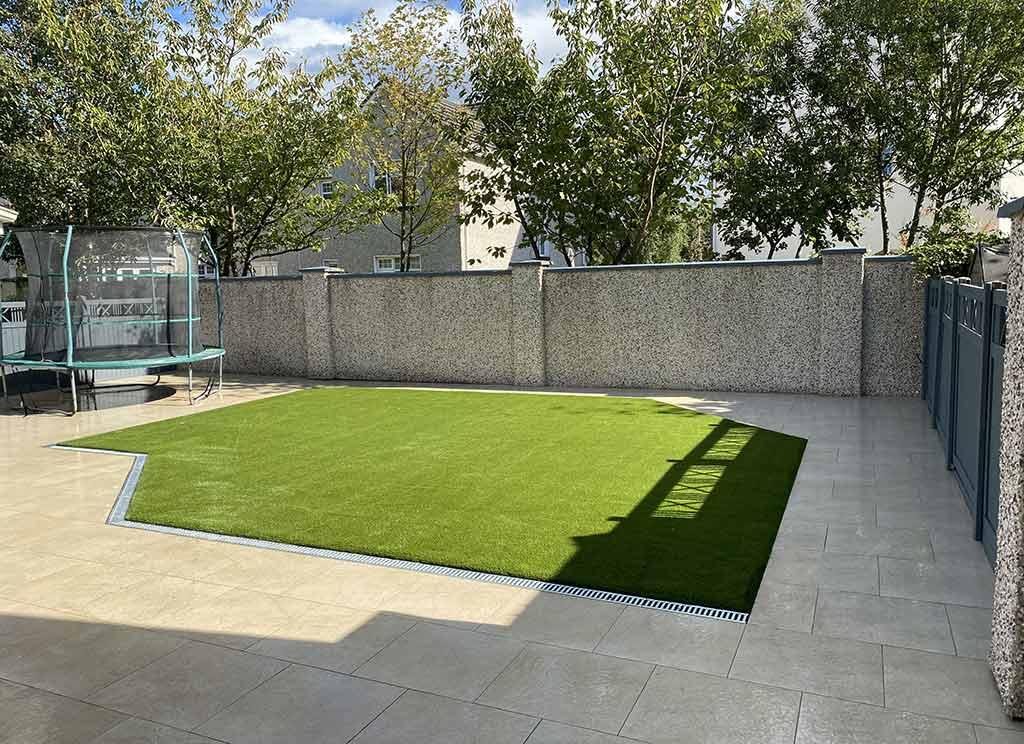 Artificial Grass and Porcelain Paving Limerick Garden