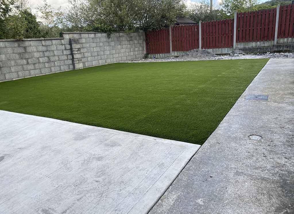 North Dublin Back Garden with Artificial Grass