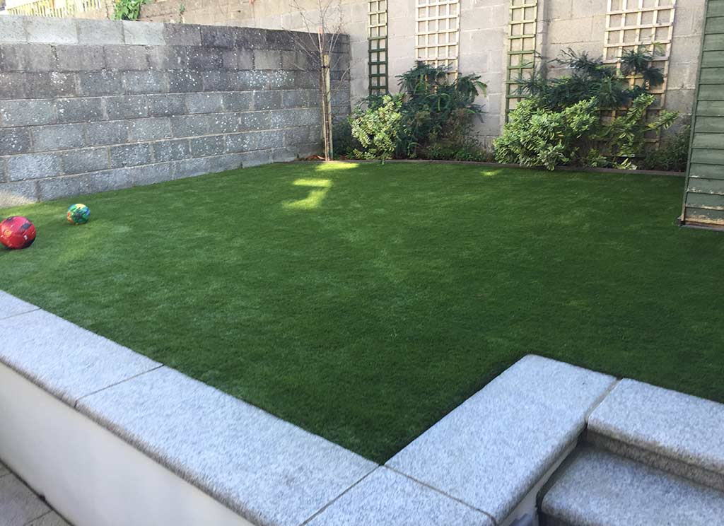 Artificial Grass Back Garden Skerries Co Dublin