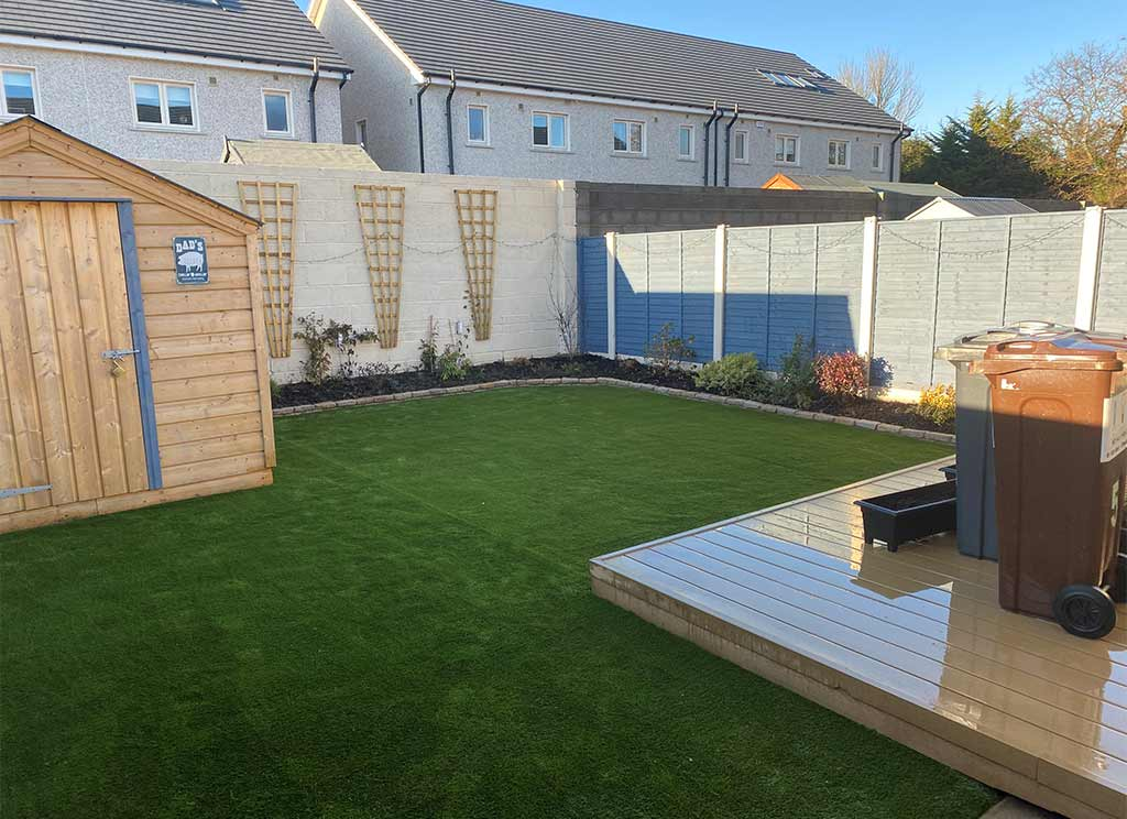 Backgarden in Donabate Dublin with Artificial Grass