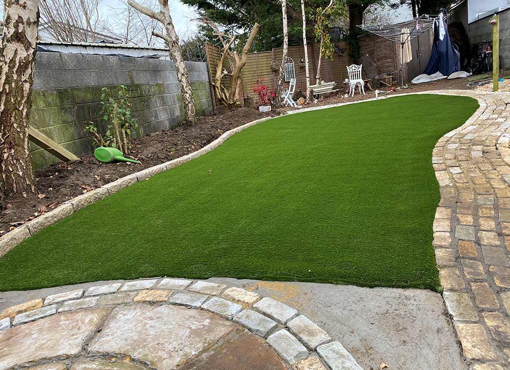 Artificial Grass Back garden Northside Dublin