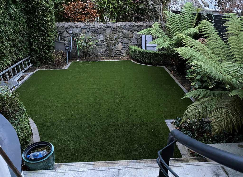 Backgarden in Rathgar Dublin 6 with Artificial Grass