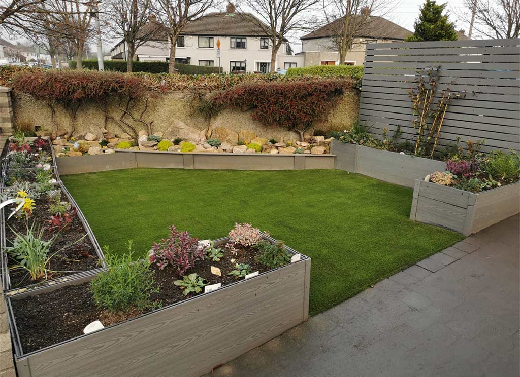 Front Gardens with Artificial Grass in Dublin
