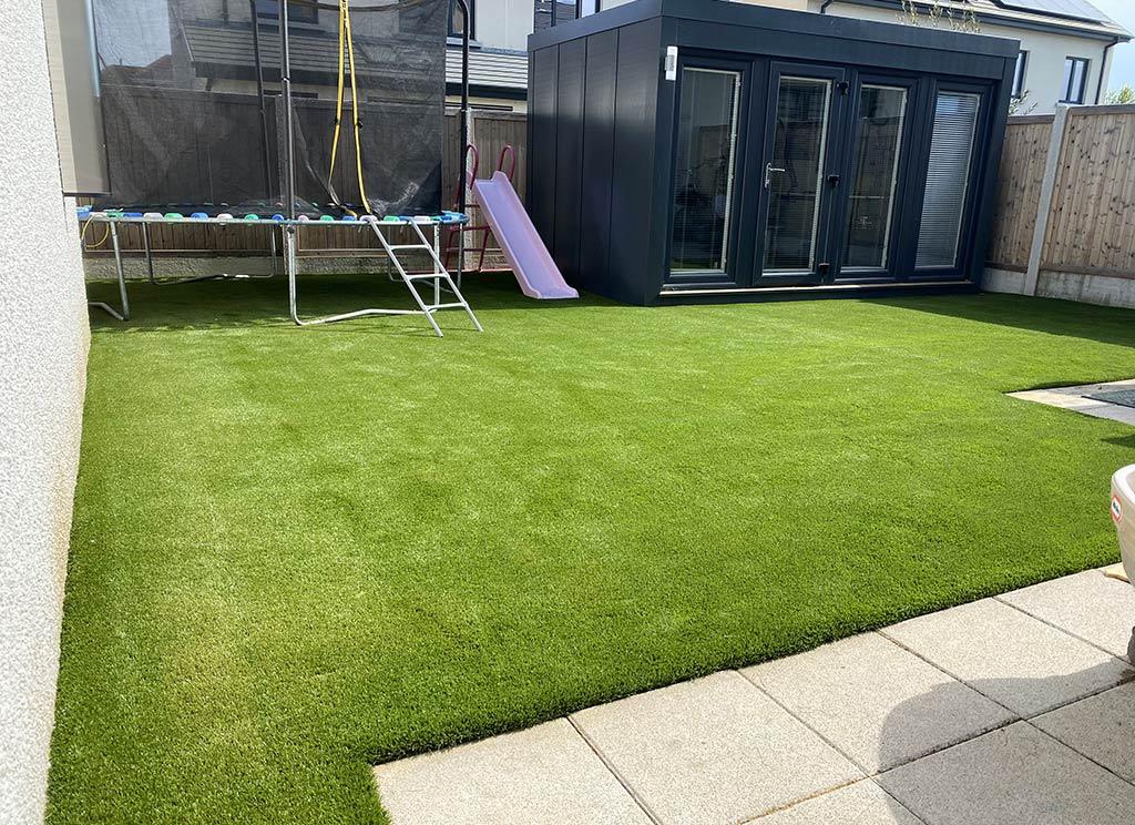 Artificial Grass Back Garden in Cabinteely Dublin