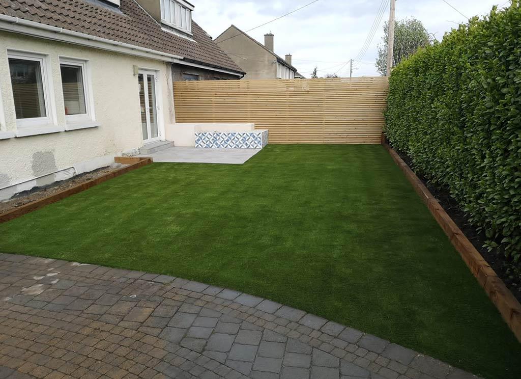 Artificial Grass Back Garden in Dundrum Dublin