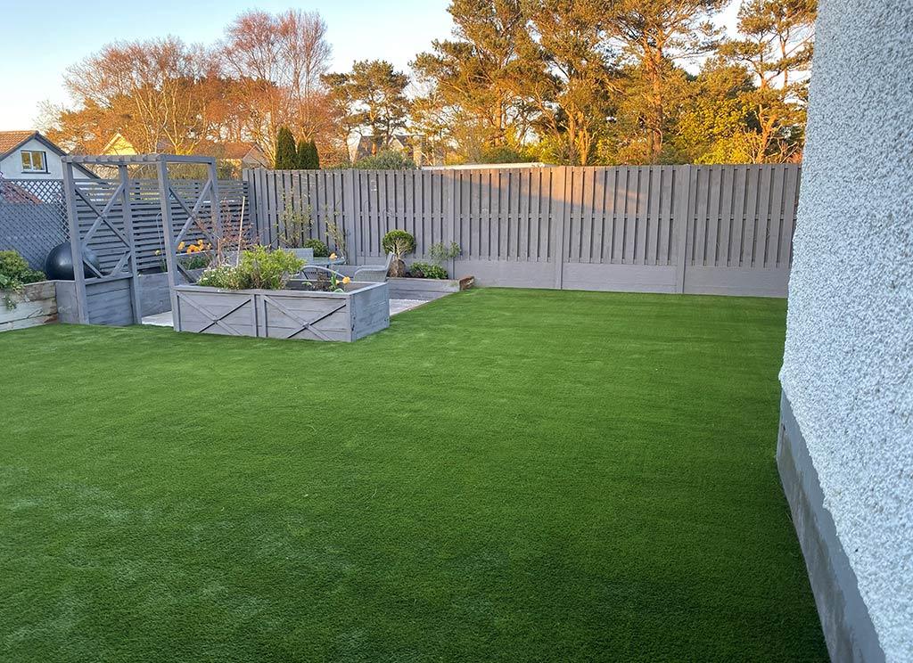 Artificial Grass Back Garden in Howth Co Dublin