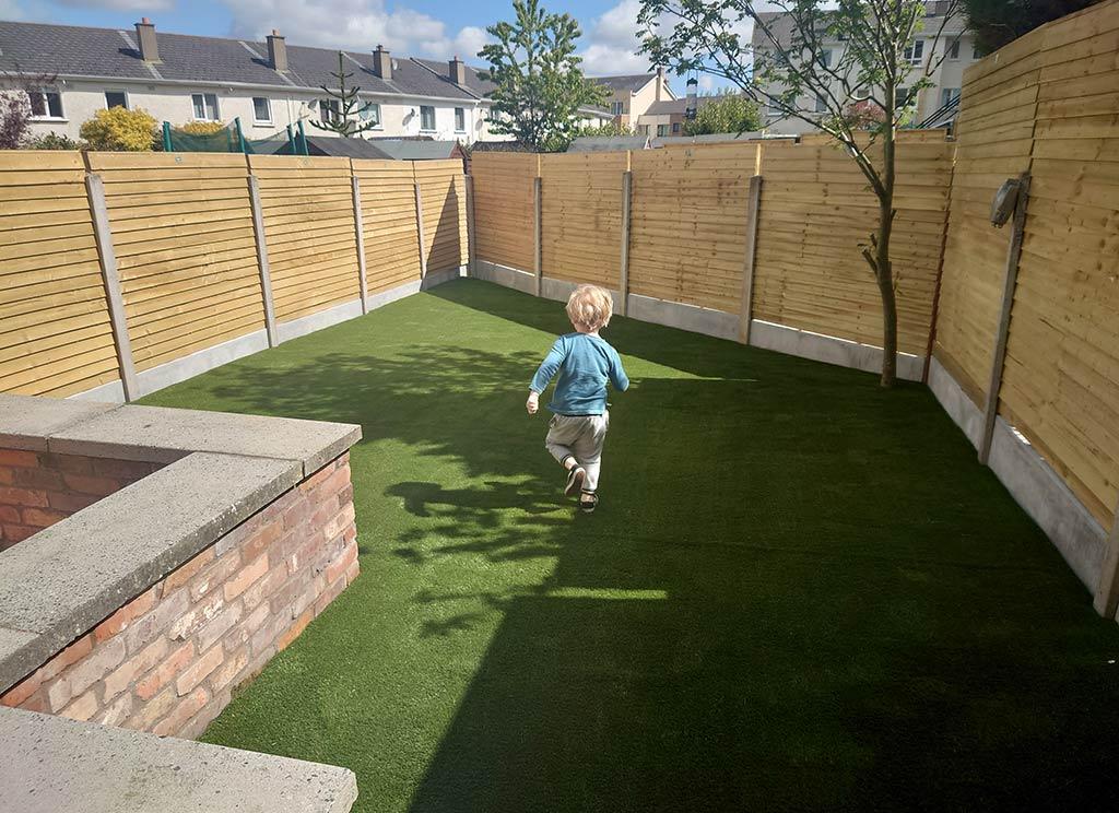 Artificial Grass in Back Garden Sagart Co Dublin