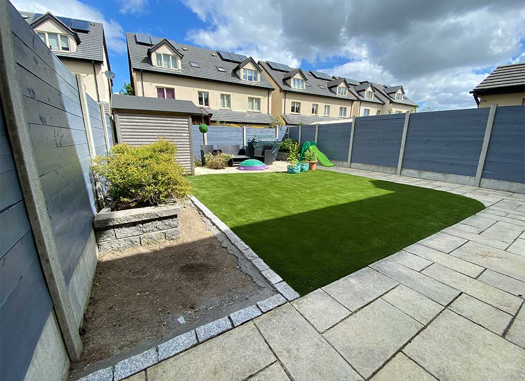 Artifical Grass Example Dublin Back Garden