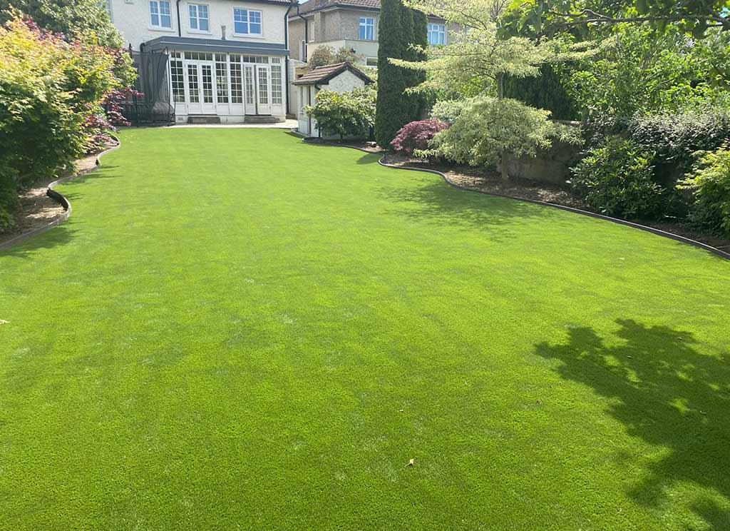 Artificial Grass in Rathfarnham Back Garden