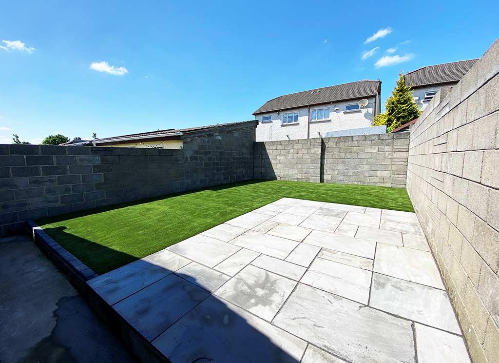 Artificial False Turf Grass Back Garden Dublin