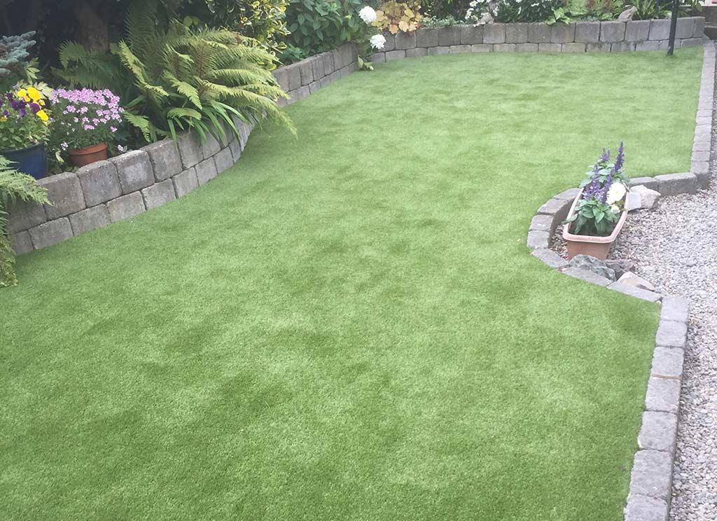 Artificial Grass Back Garden Fairview Dublin